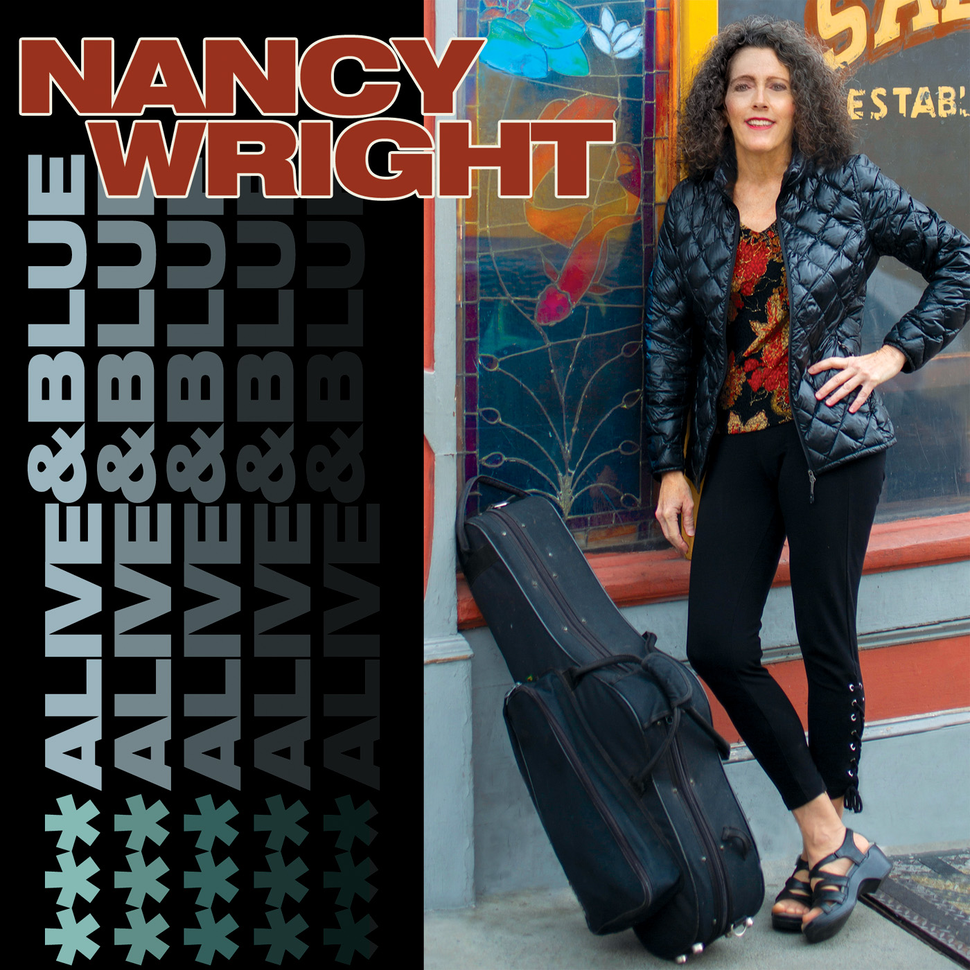 Nancy Wright ALIVE & BLUE (CD Cover)